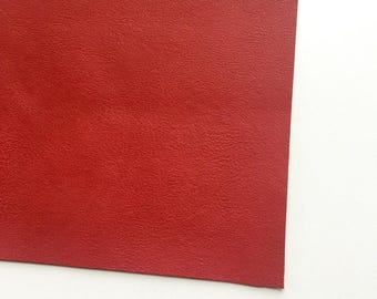 Ruby Red Vegan Faux Leather, Vinyl, Leatherette, Vegan Leather, Hair Bow, Fake Leather, Faux Leather Sheet, Red Leather, Red, Ruby, Crimson