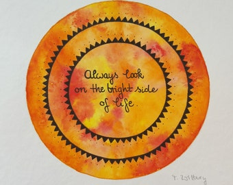 "original painting ""always look on the bright side of life"""