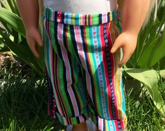 Capri pants for 18 inch dolls, fits 18 inch dolls like American girl dolls, doll pants, doll clothes, 18 inch doll outfits, dolls