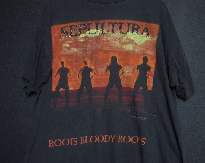 Sepultura Roots Bloody Roots 1996 Vintage Tshirt