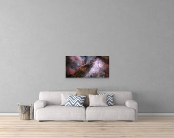 Stunning Carina Nebula Space Art Canvas  10% of All Revenue is Donated to NASA!!!