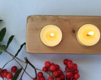 6x Soy tea light candles with aromatherapy oils and a wooden wick- Orange and Cinnamon