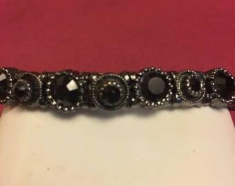 Vintage Black Crystal Bracelet