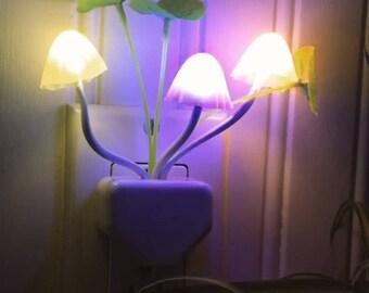 LED Color Changing Mushroom Night Light