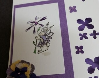 Handmade whimsical Happy Birthday Card