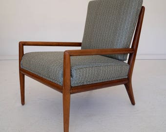 Outstanding & Rare Mid-Century Modern Lounge Chair Designed by T.H. Robsjohn-Gibbings for Widdicomb - Refinished!