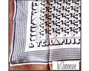 VINTAGE TED LAPIDUS Silk Scarf / scarf vintage Ted Lapidus silk / Ted Lapidus France.