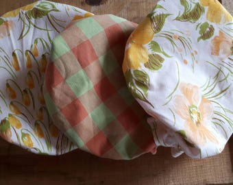 Covers washable Bowl - model Annette (kit of 3)