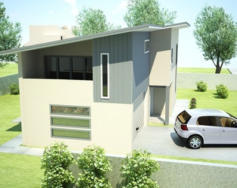 213 m2 | 3 Bedroom + Study Nook design | 3 Bed Townhouse plans | 3 Bedroom duplex | modern Townhouse plans| townhouse plans