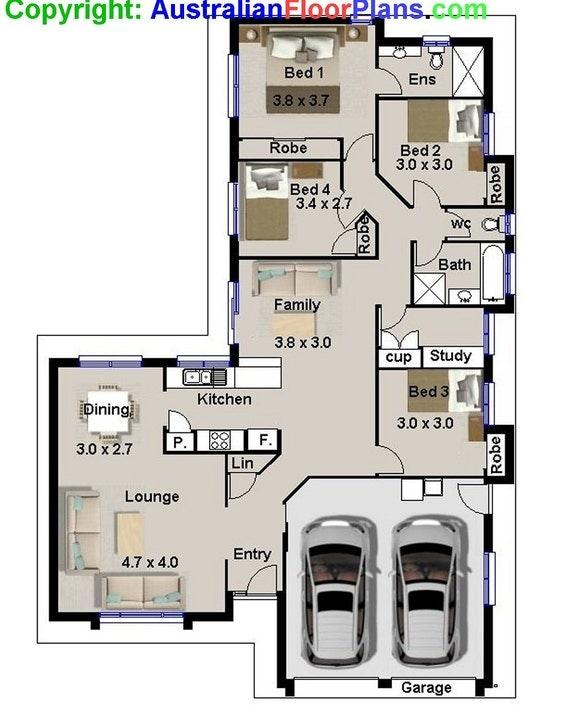 175 m2 narrow lot 4 bedroom house plans narrow home for 2 family house plans narrow lot