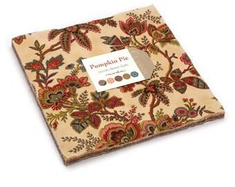 "Moda PUMPKIN PIE PRINTS Layer Cake 42280LC 10"" x 10"" Quilt Fabric Squares"