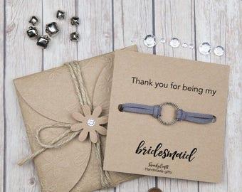 Thank you for being my bridesmaid gifts - Bridesmaid bracelets - eternity bracelet - friendship bracelets - handmade bracelets - gifts