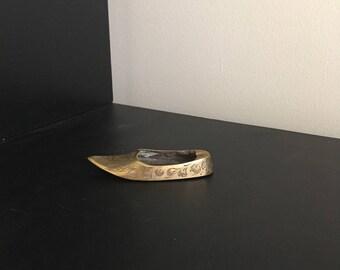 Vintage Brass Shoe // Vintage Brass Ashtray
