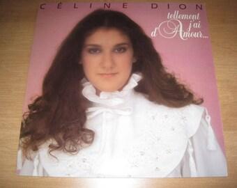 Vintage Celine Dion so vinyl I love / Vintage Vinyl Céline Dion so I have Love