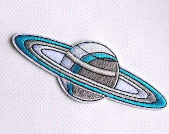 Back Iron On Planet Patch,Embroidered Stars Iron on Patch,Planet Iron on Patch,Decorative Embroidery iron on Patches