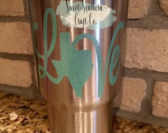 FREE SHIPPING***Texas Love Yeti RTIC Decal (any state available)