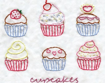 Cute Cupcakes - PDF Hand Embroidery Pattern