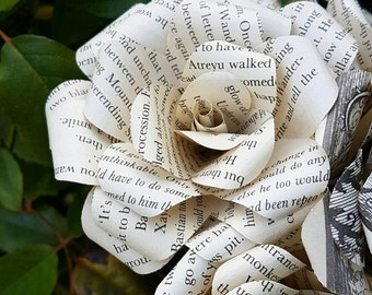 The Never ending Story Book Bouquet-Book lover gift-Book Bouquet-Book decor- Unique Gift- Bridal Bouquet- Paper Roses-Wedding- Valentines