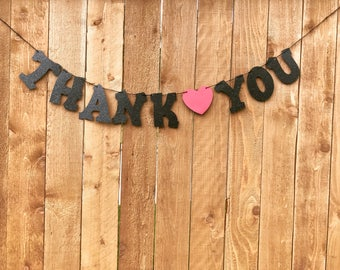 Thank You Banner, Thank You Sign, Wedding Banner, garland, banners,Wedding, Custom Banner.