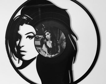 Amy Winehouse design two Vinyl Record Wall Art