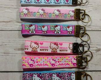 Hello Kitty Wrist Strap /KeyChain / Key Fob! Super Cute! Ready to Ship!!