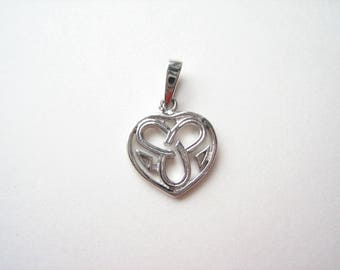 Sterling silver Celtic pendant, small Celtic heart, Celtic heart pendant, Celtic knot heart