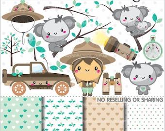 Koala clip art | Etsy