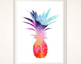 Pineapple Wall Art Pineapple Print Tropical Wall Art Printable Pineapple Fruit Print