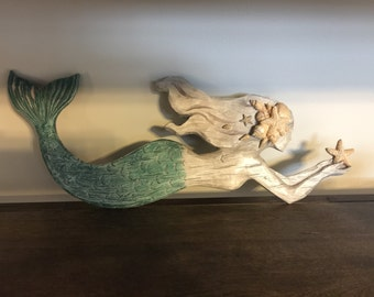 Wooden Mermaid Wall Decor mermaid wall decor/mermaid/beach decor/mermaid wall