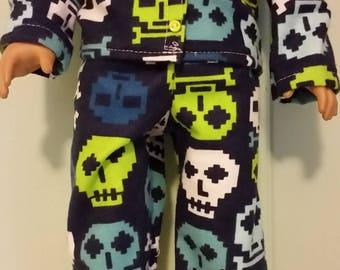 18 inch boy doll pajamas