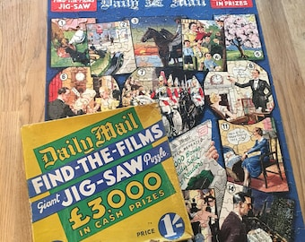 Daily Mail - Find The Films - Vintage 1930's Jigsaw puzzle