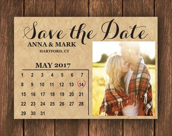 Save the Date | Photo Save the Date | Save the Date Card | Rustic Save the Date Card | Wedding | Simple Save the Date | Custom Save the Date