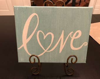 Love canvas sign