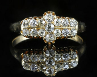 Antique Edwardian Diamond Ring Chester 1910 1ct Diamond