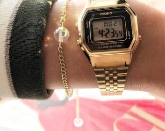 AB Crystal Ball Bracelet
