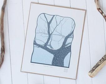 Evening Snow - Limited Edition Silk Screen Print
