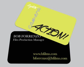Modern Typography BUSINESS CARD / Filmographer Calling Card / Custom Contact Card / Film / Movie
