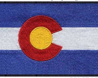 Colorado Flag Iron On Patch 3x2 inch Free Shipping