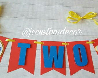 One Two Train highchair Banner-Train Theme Banner-Choo Choo Banner-Train Birthday Banner-Train highchair banner-Train One Two Banner-One-Two
