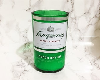 Upcycled Tanqueray Gin Bottle Candle