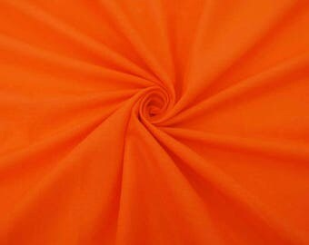 """Orange Fabric, Home Decor Fabric, Dress Material, Indian Fabric, Sewing Crafts, 43"""" Inch Cotton Fabric By The Yard ZBC7599E"""