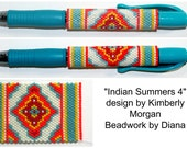 Indian Summers 4 Beaded Wrap Pen