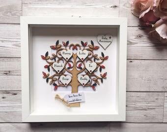 Family Tree Frame - Wooden Family Tree - Our Family Tree - Family Keepsake - Wedding Gift - Anniversary Gift - Personalised Gift - Custom