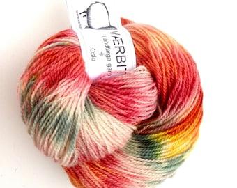 "Hand dyed Nordic yarn: ""Anemone"" in Hillesvåg Ask, 100% Norwegian wool"