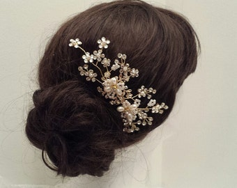 CLEARANCE - Bridal Hair Comb, Wedding Vine Hairpiece