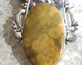 Ocean Jasper and Citrine Pendant Necklace