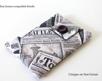 Case for compatible e-reader Kindle printed cut press Unique creation of its kind