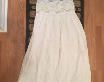 Vintage white lace nightgown