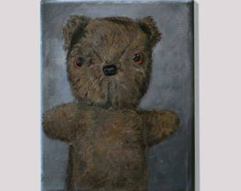 Original Painting: Teddy Bear   Acrylic on canvas