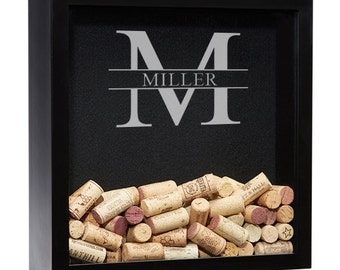 Wine Cork Shadow Box, Personalized Wine Shadow Box, Wine Cork Holder, Wine  Cork